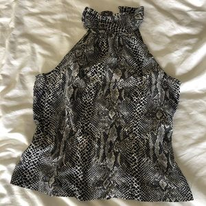 Silk Reptile Print Top